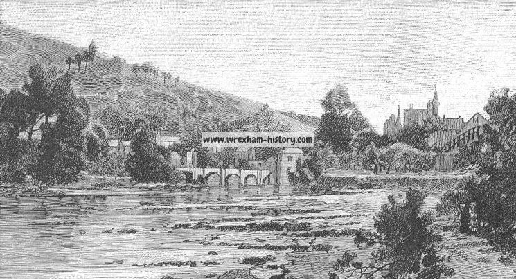 River Dee at Llangollen 1889
