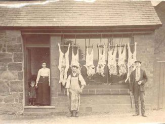 The picture is one of George Davies' butchers shop.