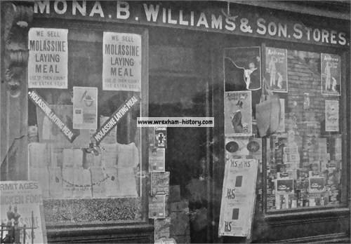 Mona Stores, Rhos 1923