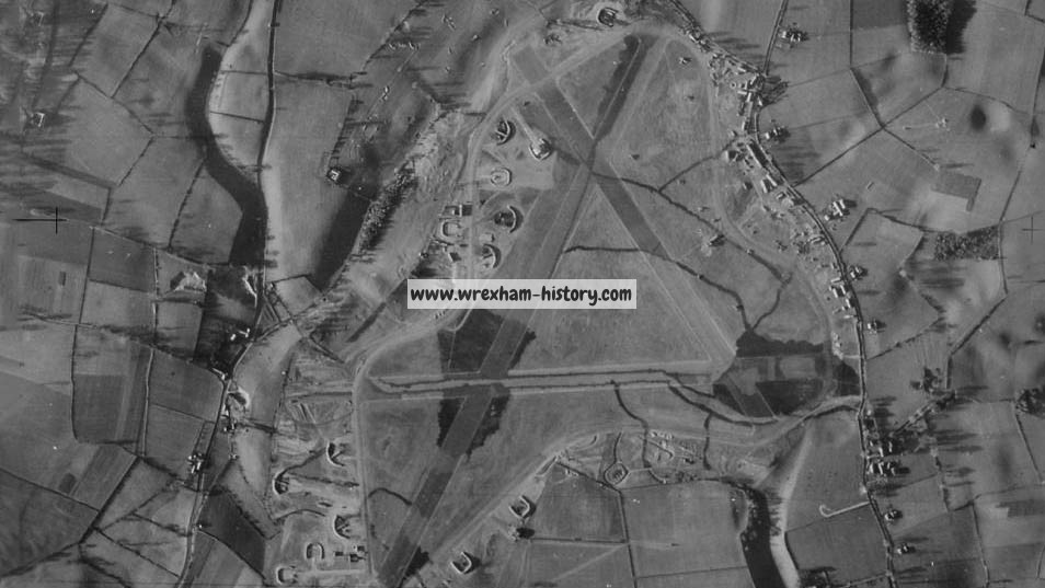 Aerial view of RAF Borras