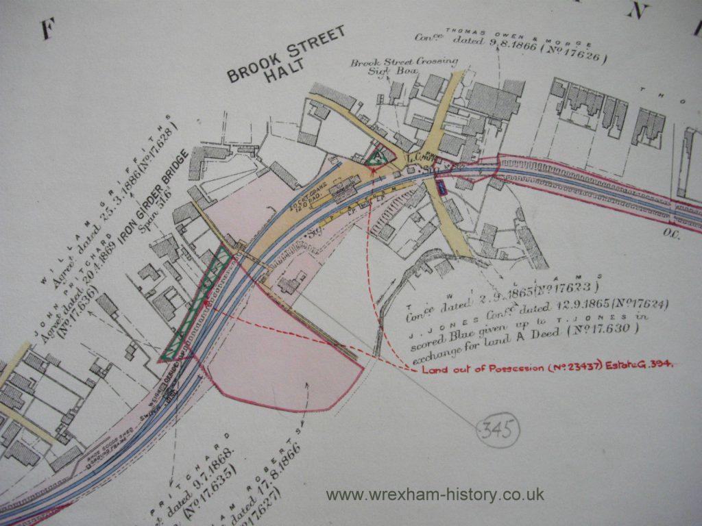 Brook Street Halt map 1860s