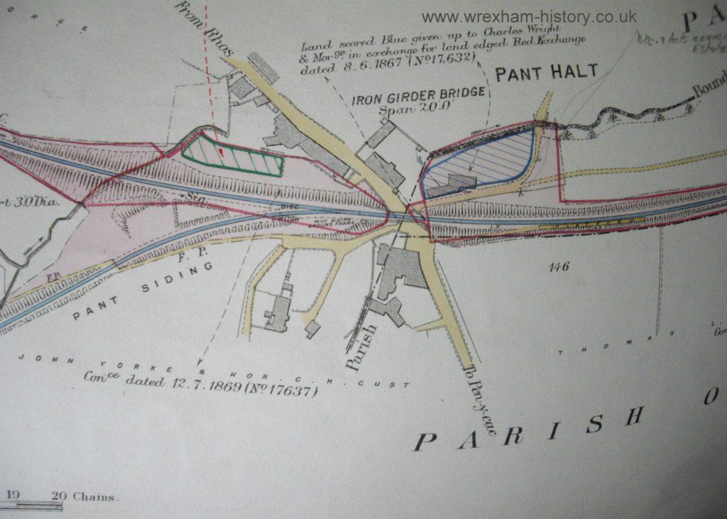 Pant Halt map 1860s