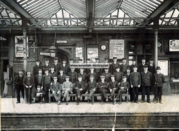 The staff of Ruabon Railway Station