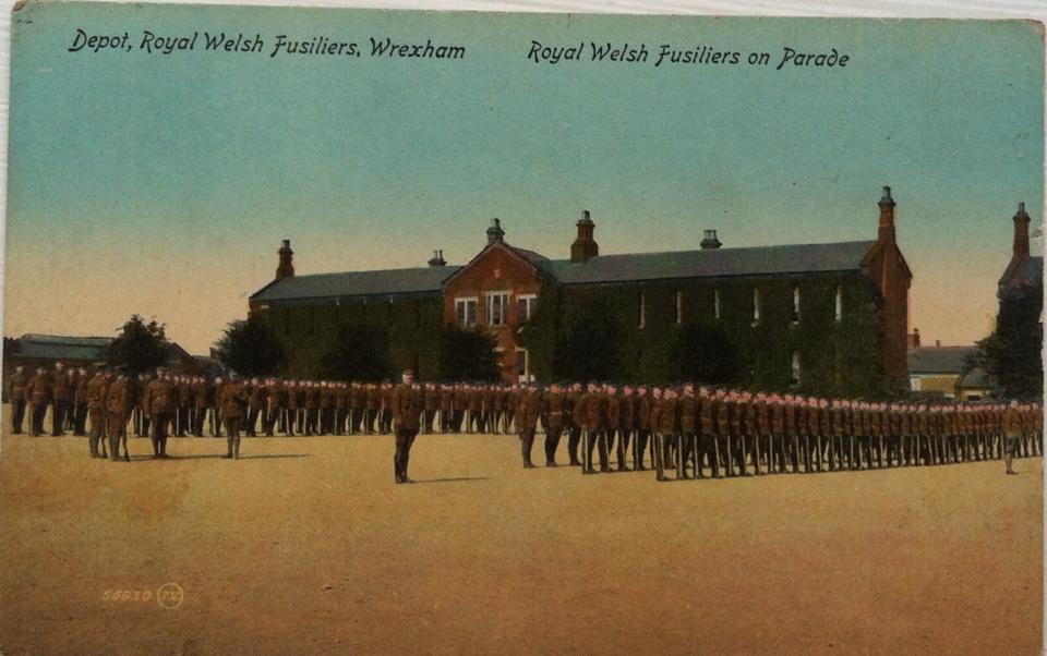RWF Parade at Hightown Barracks.