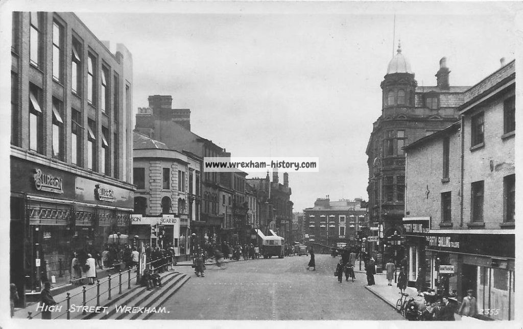 The changing streetscene of High Street, Wrexham