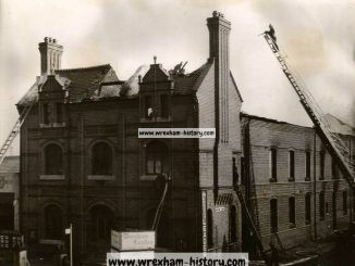 Leader Office, Regent Street, Wrexham. Fire June 1949