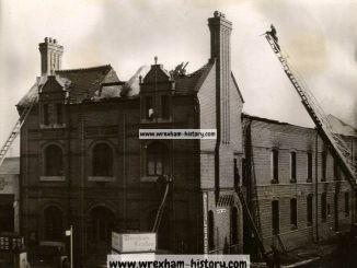 Leader Office, Regent Street, Wrexham. Fire June 1949