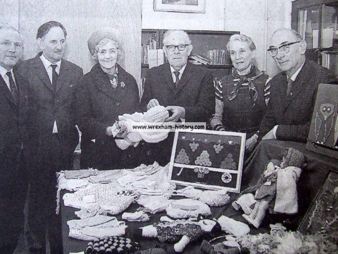 Pupils at Ysgol Y Grango, Rhos having their work judged in 1973 School Eisteddfod