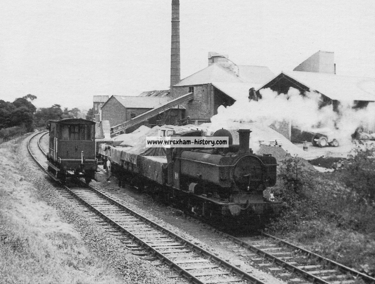 Abenbury Brickworks And The Railway Sidings 1966 Wrexham