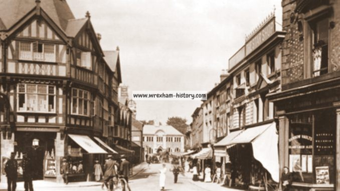 Queen Street, Wrexham in 1908