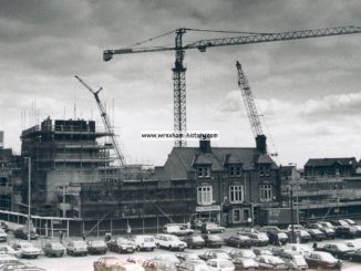 The People's Market being built in Wrexham during the 1980's