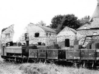 J. C. Edwards Railway Sidings at Trevor in 1957