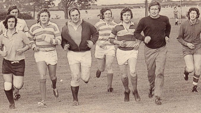 Wrexham Rugby Club in training August 1974