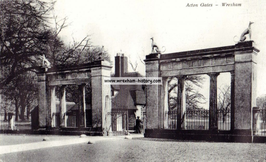 Acton Hall Gates, Wrexham 1924