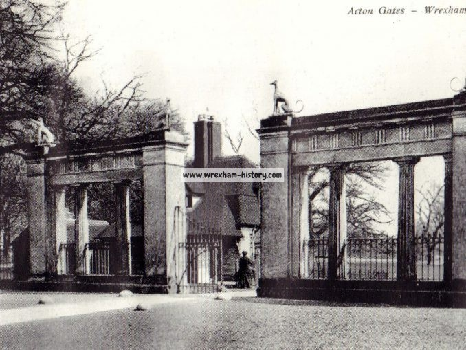 Acton Hall Gates, Wrexham 1924