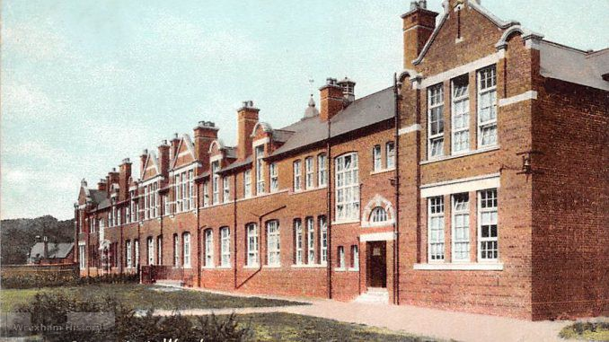 County Schools, Wrexham. Postcard