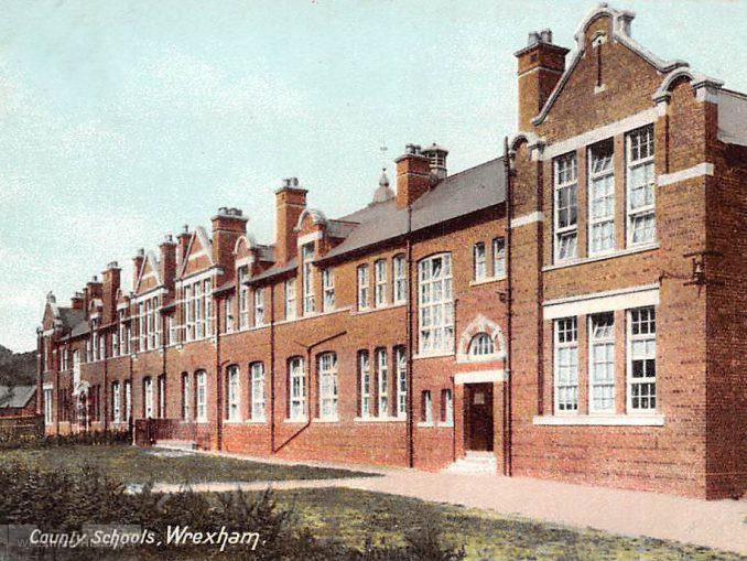 County Schools, Wrexham. Postcard