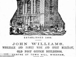 John Williams, Town Hill, Wrexham 1879