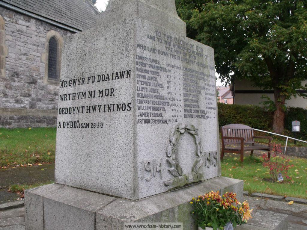 Froncysyllte War Memorial